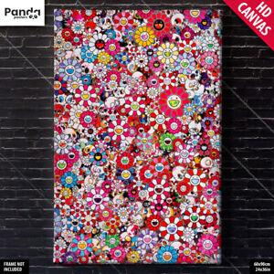 Takashi Murakami Dazzling Circus Canvas Poster Flower Wall Art Print Poporoke