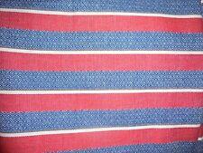 Red blue stripe fabric material vintage menswear clothing retro stripe neat