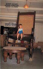 c1980 LIttle Boy in Giant Rocking Chair, Schanz Furniture, Amana, Iowa Postcard