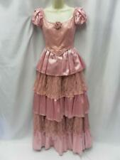 Western Victorian dress Pink satin lace 10 - 12 Theatrical Hire Quality costume
