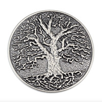 Tree Of Life Brass Belt Buckle Removable Mens Metal Retro Gift Jeans Silver