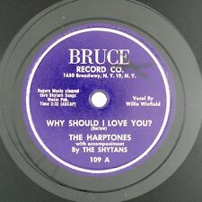 HARPTONES  Forever Mine/Why Should I Love You 10IN 1954 DOO WOP NM- LISTEN!!!!!!