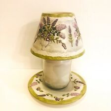 Yankee Candle Plate And Lamp Shade Large Topper Cover Herbs Flowers Spring
