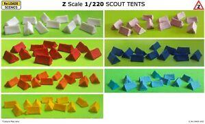 SCOUT TENTS, Z Scale / Z Gauge Model Railway Scenic Accessories