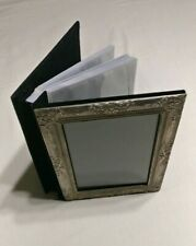 Silver Plated Picture Frame Front Photo Album unused folding protective pages