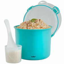 VonShef Microwave Rice Cooker Steamer Pot with Drainer 2.23L - Teal