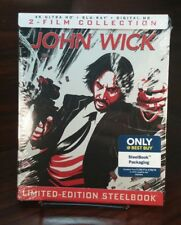 John Wick 2-Movie Collection EXCLUSIVE 4K UHD/Blu-ray/Digital HD SteelBook-NEW