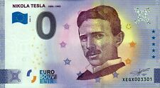 Null Euro Schein - 0 Euro Schein - Nikola Tesla  1856-1943 2020-2