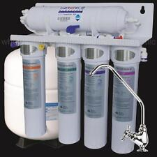 """5 Stage Reverse Osmosis """"Quick Change Bayonet Filters """" RO Drinking Water System"""