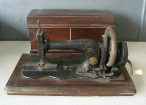 Antique Grimme Natalis Co Sewing Machine Hand Crank Works #MS1