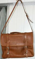 Coach 5325 brown leather attache messenger bag briefcase.
