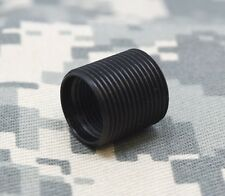 "1/2""x28 to 5/8""x24 5/8"" Long threaded barrel adapter Made in USA Black Oxide"