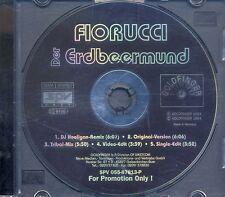 Fiorucci - Der Erdbeermund ° PROMO Maxi-Single-CD von 1994 ° WIE NEU ° RARITÄT