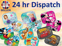 x2 Disney Kids Baby Children Boy or Girl Car Window Protector Sun Shades 44x35cm