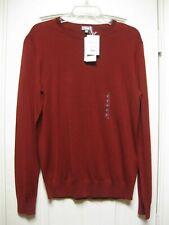 BNWT UNIQLO Men Extra Fine Merino Crew Neck Long Sleeve Red Sweater Small S