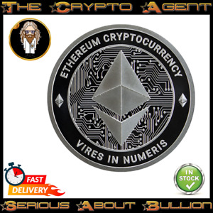 Ethereum - ETH - 1oz Silver Bullion Round