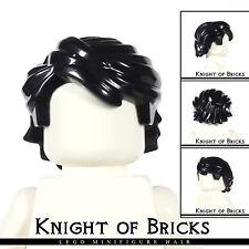 LEGO Minifigure Hair BLACK 43753 Male Boy Swept Back Tousled