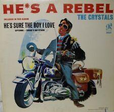 "THE CRYSTALS~ HE'S A REBEL~U.S. 1st PRESS PHL 4001 ""BLACK/BLUE"" 1962 ""VG/VG""~LP"