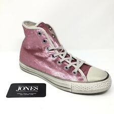Converse High Top Sneaker Pink Sequin Distressed Women Size 8 New 71115068d