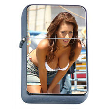 Latina Pin Up Girls D1 Flip Top Oil Lighter Wind Resistant Flame