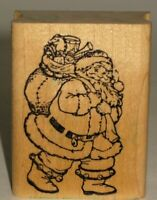 "Embossing Arts Rubber Stamp Santa Claus Wood Mount 1.75"" x 2.25"""