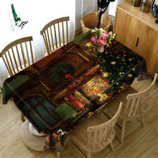 Christmas Eve 3D Tablecloth Table cover Cloth Rectangle Wedding Party Banquet