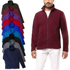 Kariban Mens Fleece Jacket Full Zip Up Heavy Outdoor Warm Polar Anti Pill Work