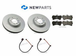 For Audi Q7 VW Touareg Front OEM Brake Rotors w/ Ate Pads & Pex Sensors KIT