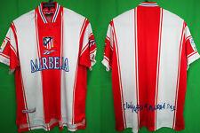 1999-2000 Atletico Madrid Vintage Jersey Shirt Camiseta Home MARBELLA Reebok M