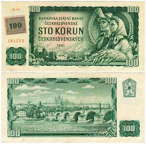 Czechoslovakia 100 Korun Československých P#91c (1961) Státní Banka VF