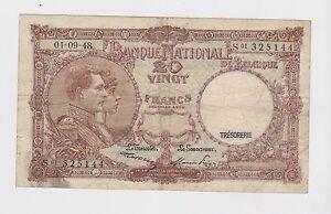 Belgium - 20 Francs, 1948