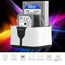 "2.5"" 3.5"" USB 3.0 SATA Hard Drive Dock Station HDD Enclosure External Disk Case"