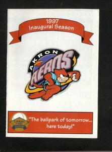 Akron Aeros--1997 Pocket Schedule--Pepsi--Indians Affiliate