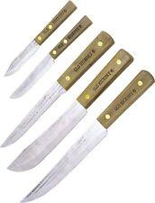 OH705 OLD HICKORY 5 PC CARBON KNIFE SET SLICER, BUTCHER, BONING, 2 PARING,1418