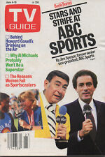 New listing 1984 Tv Guide Stars and Strife at Abc Sports Stars and Strife June 4-10