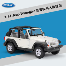 Welly 1:24 Jeep Wrangler Convertible Diecast Metal Model Car New in Box White
