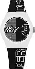 Superdry Ladies Black Silicone Strap Quartz Watch SYL239BW