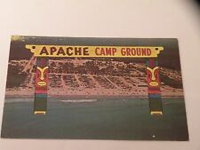 VINTAGE POSTCARD APACHE CAMP GROUND CHROME MYRTLE BEACH SC