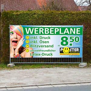 Werbebanner Werbeplane PVC-Plane Banner, versch. Größen ab 8,50