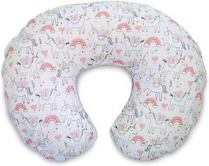 Boppy Cotton Blend Pink Unicorns Nursing Pillow Slipcover