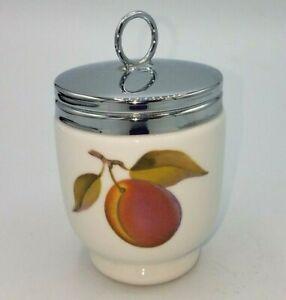 """Vtg Royal Worcester Evesham Gold 4.5"""" Double Porcelain Egg Coddler Cup"""