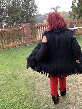 Black and Grey Genuine Fur vest One Size