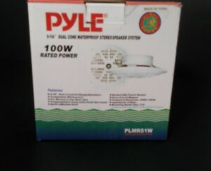 Pyle 5.25 Inch  Marine Speakers 2 Way Waterproof,Weather Resistant 1 Pair White