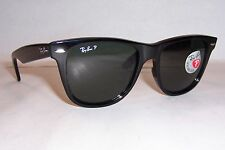 57b43a80d0 NEW RAYBAN SUNGLASSES WAYFARER 2140 901 58 BLACK GREEN 54MM POLARIZED  AUTHENTIC