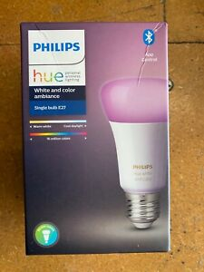 PHILIPS HUE WHITE AND COLOR AMBIANCE E27 SINGLE BULB - RETAIL BOXED