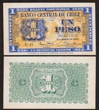 1 PESO 1943 CHILI / CHILE [NEUF / UNC] P90 1/10 condor