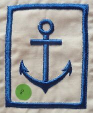 Insigne tissu ANCRE MARINE NATIONALE UNIFORME CHEMISETTE COLONIALE 100x80mm 1940