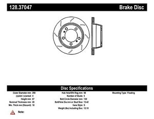 StopTech For Porsche 718 Boxster Disc Brake Rotor-Preferred Front - 128.37047