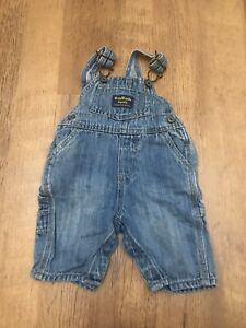 Baby Blue Denim dungarees oshkosh 3 months