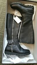 Gucci NIB $1375 megura genuine rabbit fur boots shoes EU 37 US 7